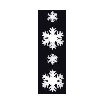 Garland of crystal of snow / snowflakes in cotton wool