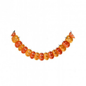 Pumpkin garland with face