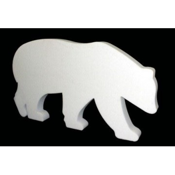 Silhouette of polar bear in cotton wool