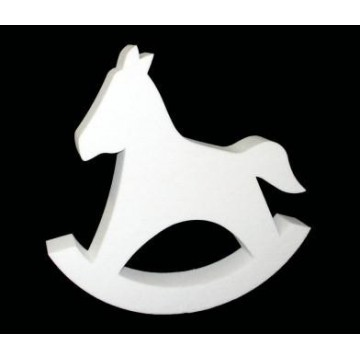 Silhouette of rocking horse in cotton wool