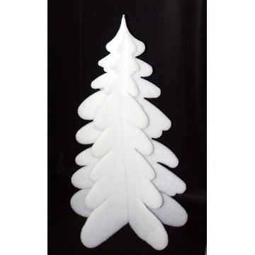Christmas tree in cotton wool in 3D