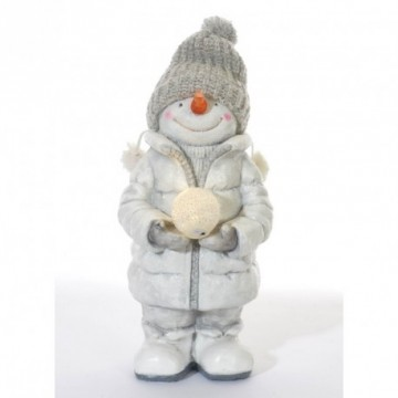 Snowman in winter coat