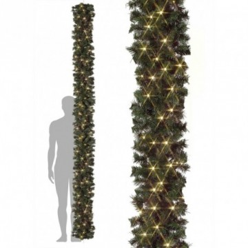BARCANA deluxe line fir garland with indoor LED light