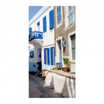 Greek village motif print
