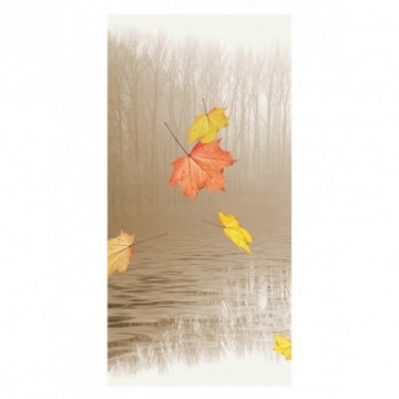 Leaves in the wind motif print