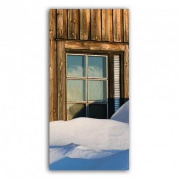 Cottage window motif print