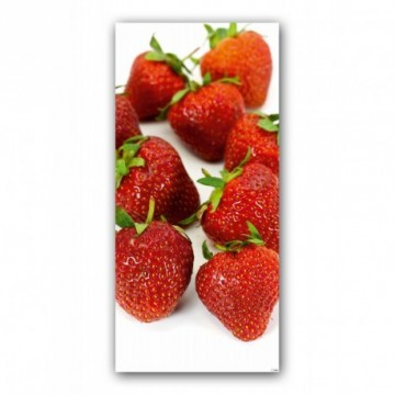 Strawberries motif print