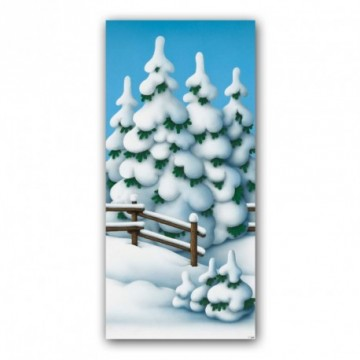 Fairy tale winter forest motif print