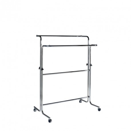Double sided clothes rack