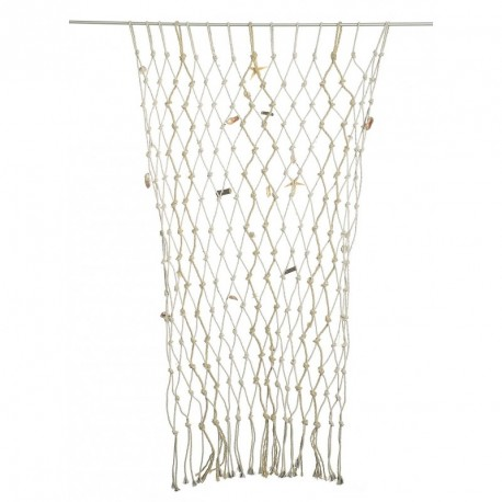 Fishing net with shell decoration