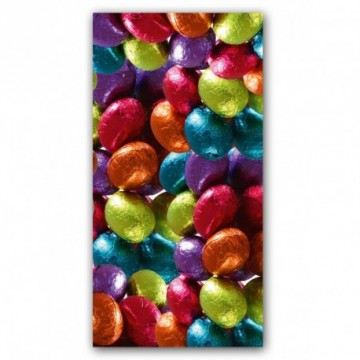 Metallic eggs motif print