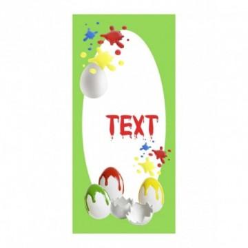 Eggs with colour blurs motif print