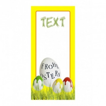 Egg Frohe Ostern and eggs with colour blurs motif print