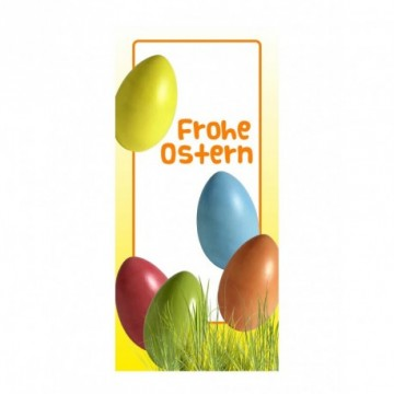 Multi coloured Easter eggs motif print