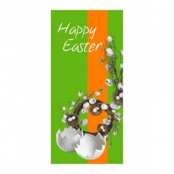 Eggs branch and wreath motif print