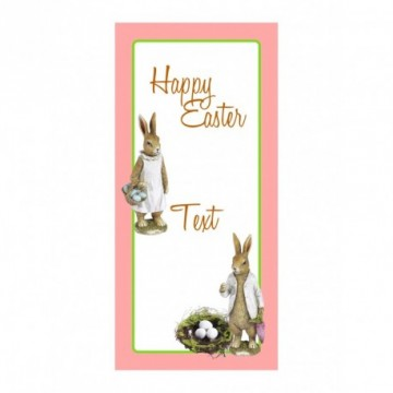 Bunny couple with egg nest motif print
