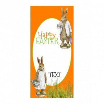 Bunny couple with grass motif print