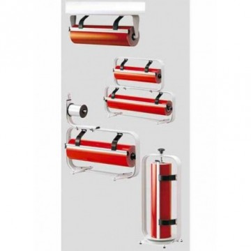 "Wall paper roll dispenser ""standard"" with wall mounting."