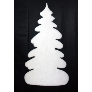 Fir tree in cotton wool